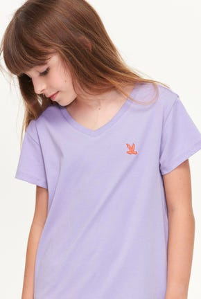 V-NECK BIRD LOGO TEE