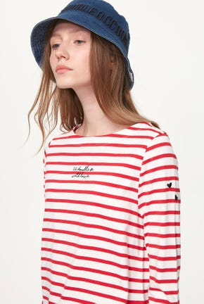 3/4 SLEEVE STRIPED TEE