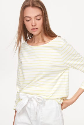 TIE BACK STRIPED TEE