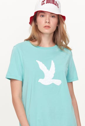 QUILTED BIRD LOGO TEE