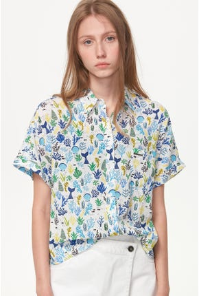 SHORT-SLEEVED MARINE PRINTED SHIRT