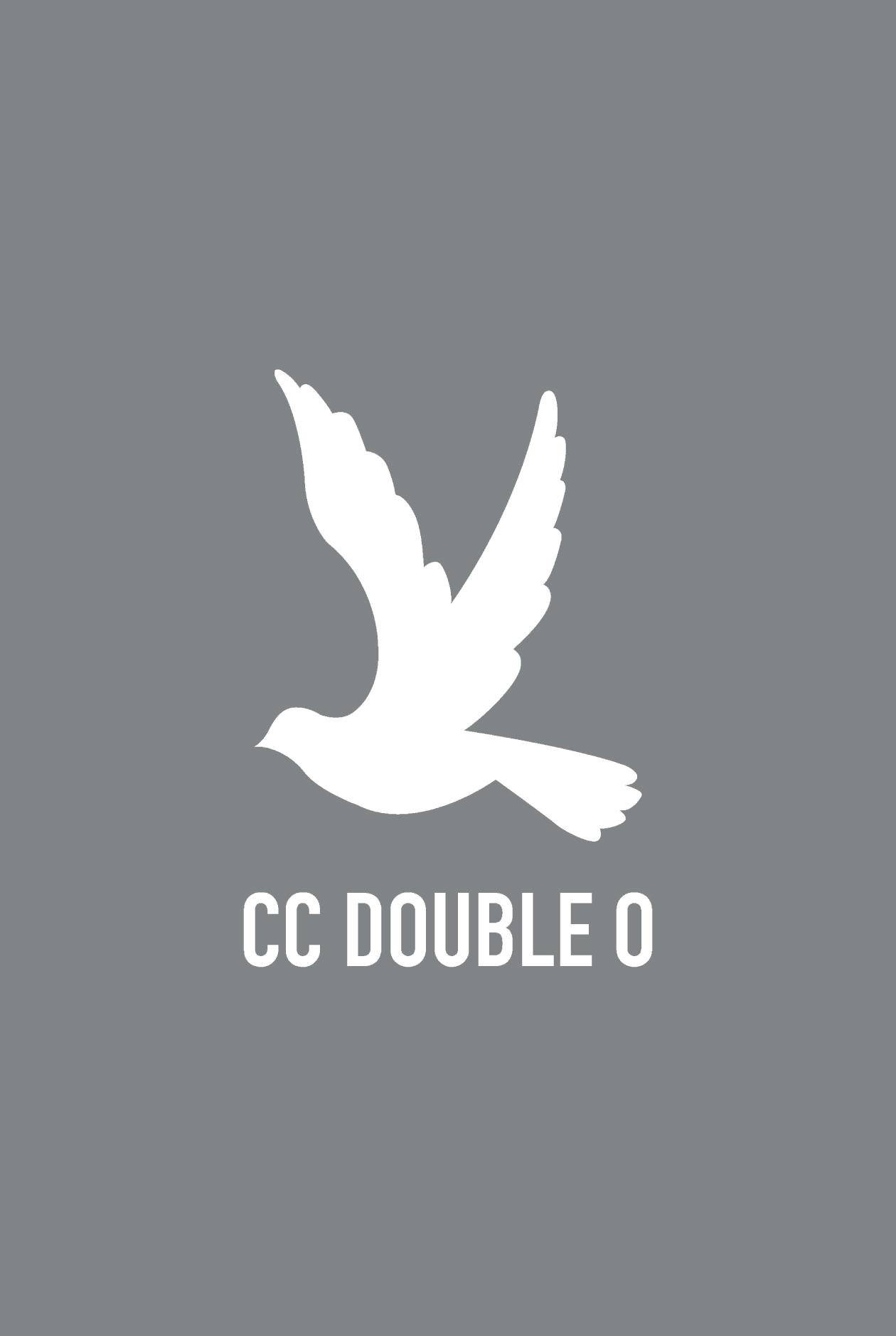 Long-Sleeved Bird Logo Flag Tee with Contrast Color Neckline