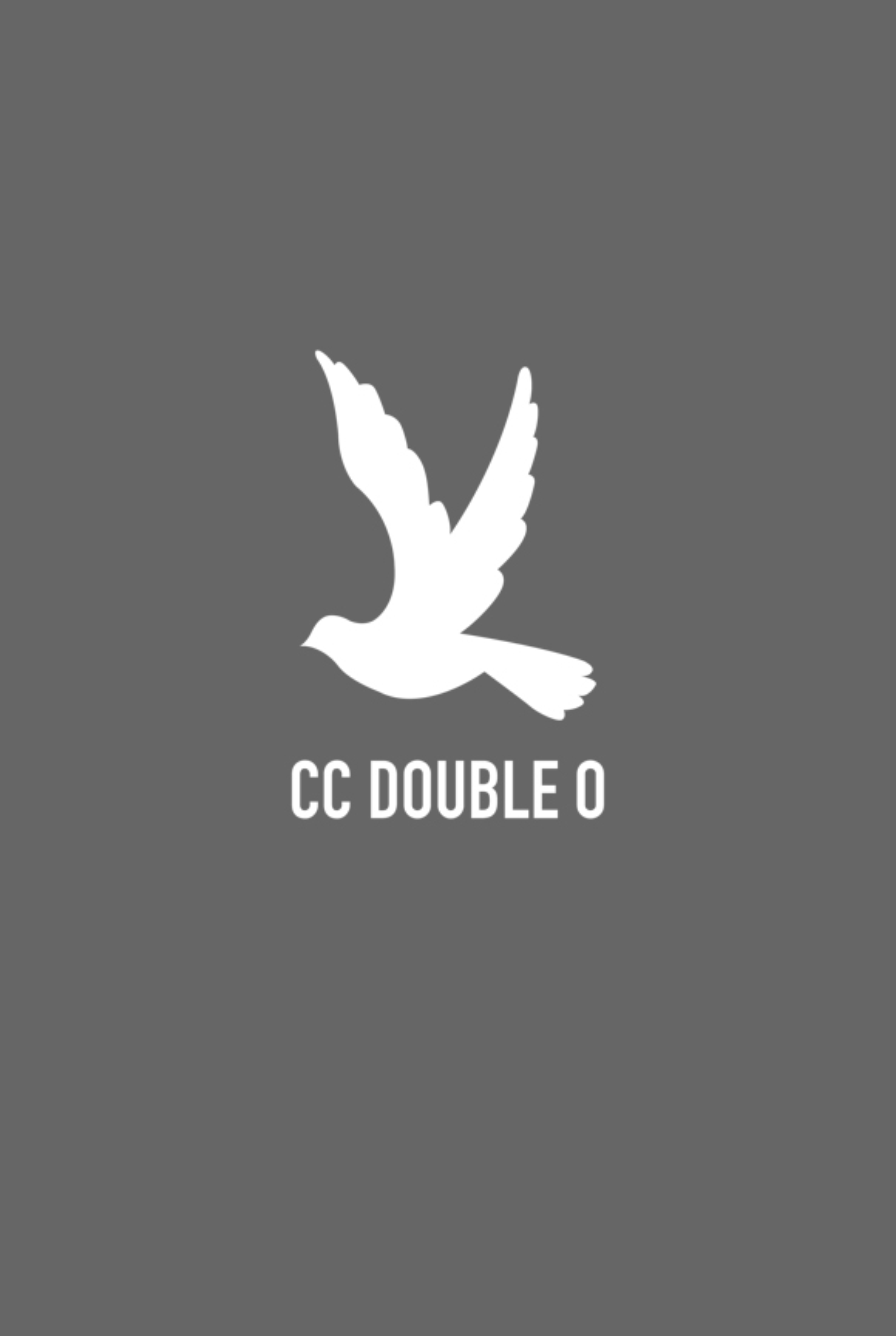 Flower-Printed Bird Logo Tee