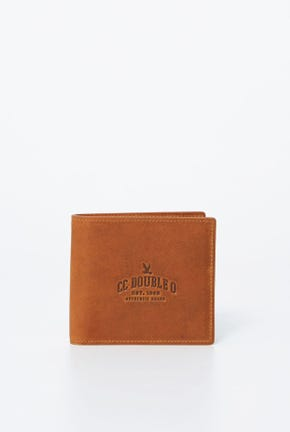 CC DOUBLE O LOGO BIFOLD LEATHER WALLET