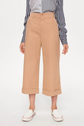 CULOTTES PANTS WITH DOUBLE BUTTON DETAIL