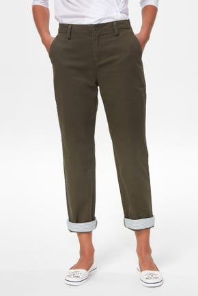 TAPERED PANTS WITH STRIPED DETAIL