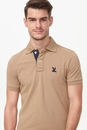 SOLID BIRD LOGO POLO SHIRT