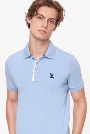 PRINTED PLACKET POLO SHIRT