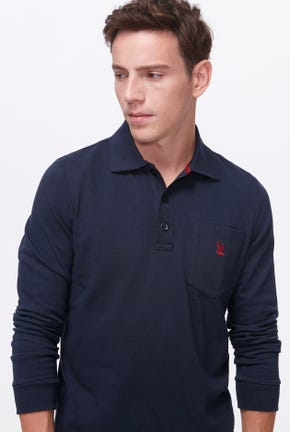 LONG-SLEEVED POCKET POLO