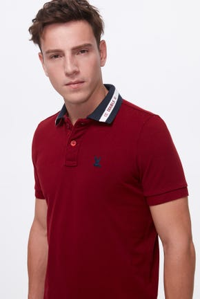 CONTRAST COLLAR POLO