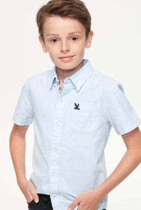 BOY SHORT-SLEEVED OXFORD SHIRT