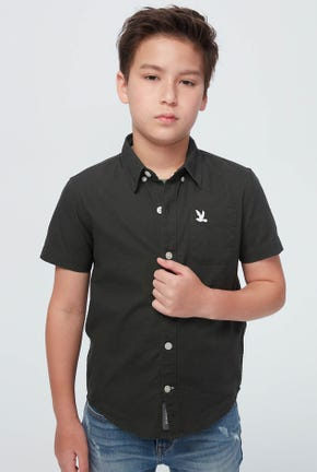 SHORT-SLEEVED SOLID SHIRTS OXFORD