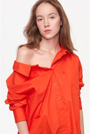 ONE-SHOULDER SHIRT