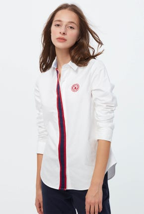 LONG-SLEEVES SHIRT WITH STRIPED PLACKET