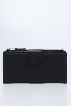 CC DOUBLE O LOGO BIFOLD  WITH BUTTON CLOSURE WALLET