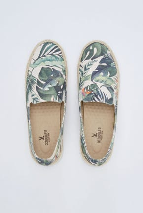 ALL-OVER PRINTED JUTE-WRAPPED SLIP-ON SNEAKERS