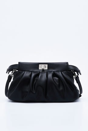 RUCHED PHONE BAG WITH STRAP