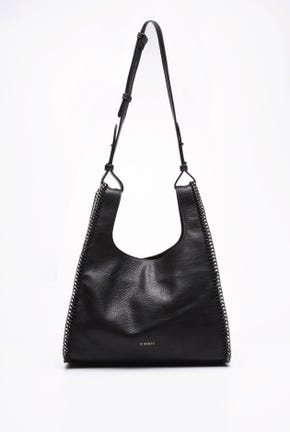 CHAIN TRIMMING TOTE BAG WITH SHOULDER STRAP
