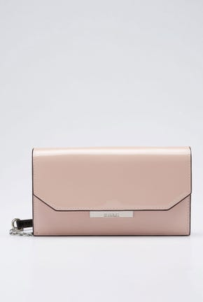 PATENT CLUTCH WITH CHAIN STRAP