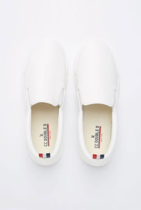 SLIP-ON SNEAKERS WITH EMBOSSED LOGO ON SOLES