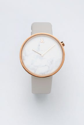 CC DOUBLE O WATCH WITH LEATHER STRAP