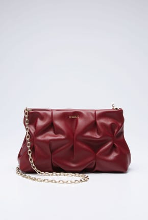 GATHERED BAG WITH CHAIN STRAP