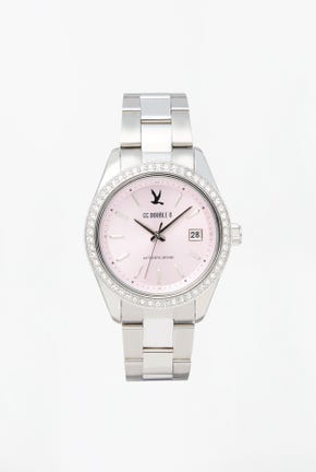 CC DOUBLE O WATCH WITH STEEL STRAP