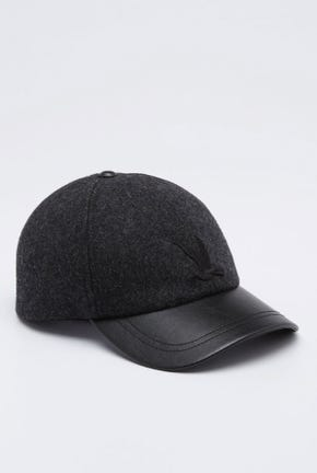 WOOL AND LEATHER CAP