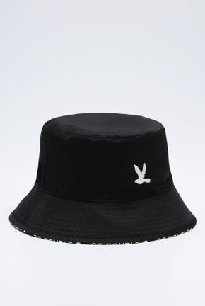 REVERSIBLE BIRD LOGO BUCKET HAT