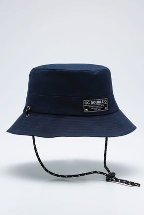 LOGO BUCKET HAT WITH CHIN STRAP