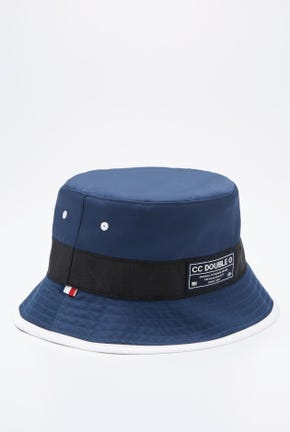 REVERSIBLE NYLON BUCKET HAT IN NAVY