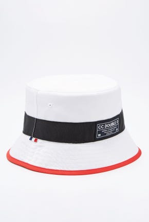 REVERSIBLE NYLON BUCKET HAT IN RED