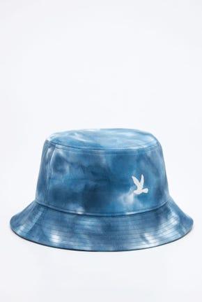 TIE-DYE DENIM BUCKET HAT