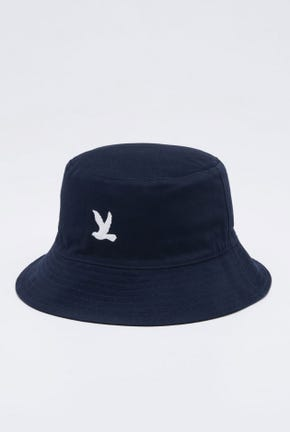 LOGO REVERIBLE BUCKET HAT IN NAVY