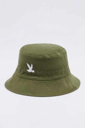 LOGO REVERIBLE BUCKET HAT IN GREEN