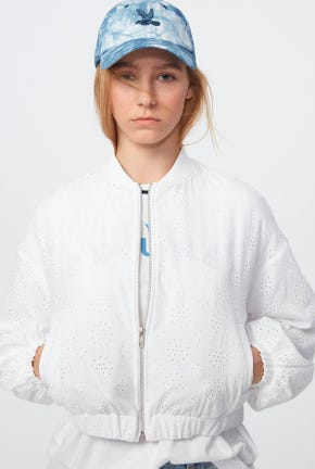 CUTWORK EMBROIDERY BOMBER JACKET