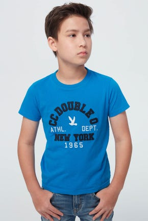 BLUE LOGO GRAPHIC TEE
