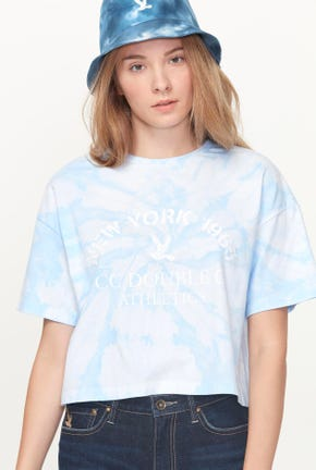 SUMMER PRINTED CROPPED TEE