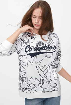 LINE DRAWING PRINT PULLOVER