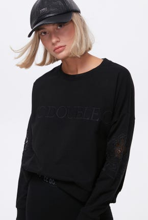 PULLOVER WITH LACE DETAIL