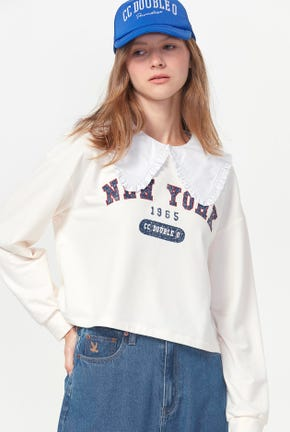 NEW YORK CROPPED PULLOVER