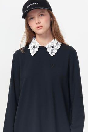 CAPE COLLAR PULLOVER DRESS