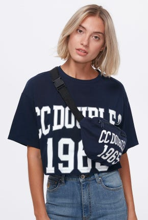 LOGO CROP PULLOVER WITH FUNCTIONAL BAG