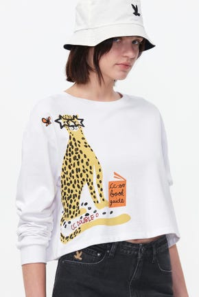 TIGER CROPPED PULLOVER