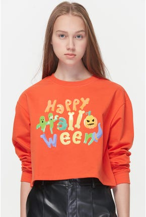 HALLOWEEN CROPPED PULLOVER