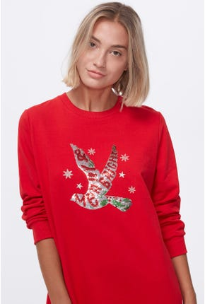 MERRY CHRISTMAS PULLOVER DRESS