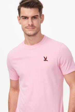 BIRD LOGO TEE IN PINK