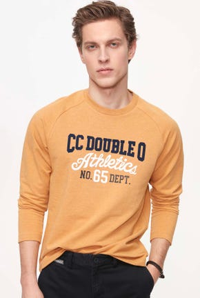 ATHLETIC COLLEGE PRINTED RAGLAN PULLOVER