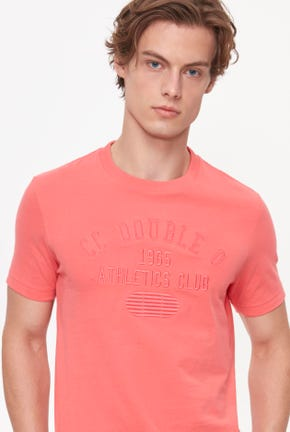 ON-TONE PINK LOGO GRAPHIC TEE