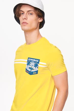 SURF BEACH PRINTED POCKET TEE